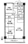 三井東陽ハイツの間取り図
