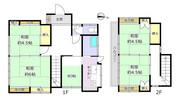 東京都東大和市清水2丁目の間取り図