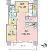 シティタワー国分寺ザ・ツイン ウエストの間取り図