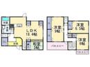 奈良県香芝市関屋の間取り図