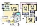 奈良県葛城市北花内の間取り図