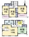 奈良県香芝市良福寺の間取り図