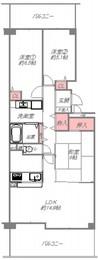 ローレルスクエア登美ヶ丘第1期6番館の間取り図