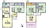 奈良県奈良市富雄川西1丁目の間取り図