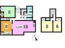 中央市西新居の間取り図