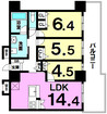 RYU:X TOWER The WEST OCの間取り図