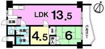 ユアサハイム浦添マンションA棟の間取り図