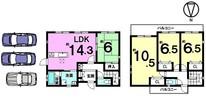 今井町4丁目 中古戸建の間取り図