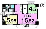 グローリー桜井北本町の間取り図