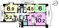 ロイヤルコート半田壱番館の間取り図