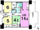 ■トラスト新宮中央ネクサージュの間取り図