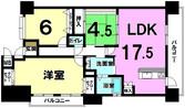グランフォレスト西津田2番館の間取り図