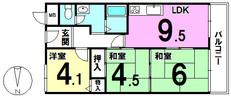 メゾンドール住吉沢之町公園の間取り図