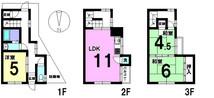 新北島2丁目 中古テラスハウスの間取り図