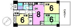 ユアサハイム帝塚山の間取り図