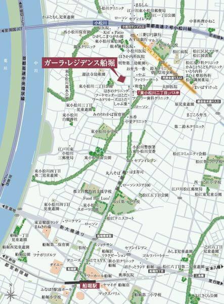 ガーラ・レジデンス船堀の現地・周辺案内図