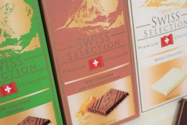 スイスセレクション ミルクチョコレート 10%ソルトキャラメル