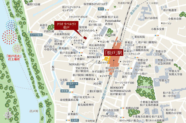 クリオ ラベルヴィ松戸の現地・周辺案内図