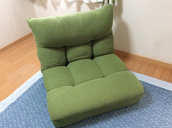 ニトリ「ポケットコイル座椅子」をソファー級に大抜擢!多機能性