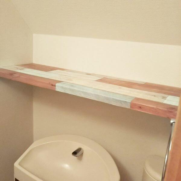 トイレ収納アイデア100均材料でおしゃれな棚を作ってみた