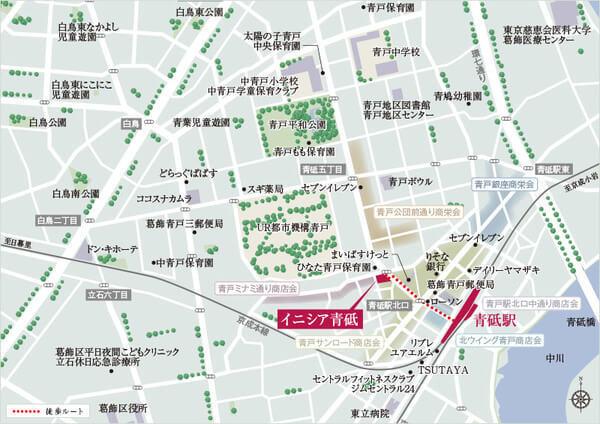 イニシア青砥の現地・周辺案内図