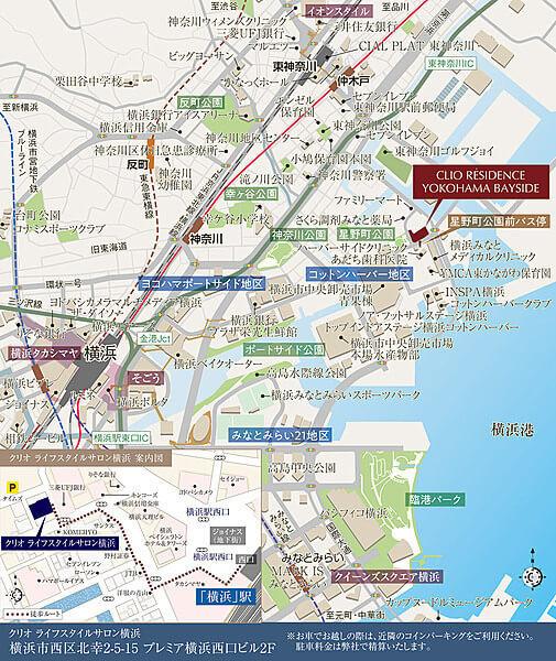 クリオ レジダンス横濱ベイサイドの現地・周辺案内図
