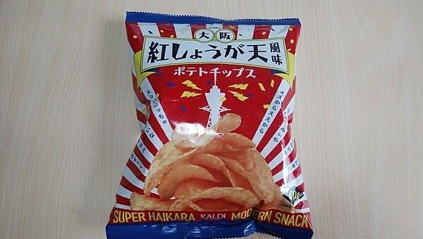 カルディオリジナル「大阪紅しょうが天風味ポテトチップス60g」