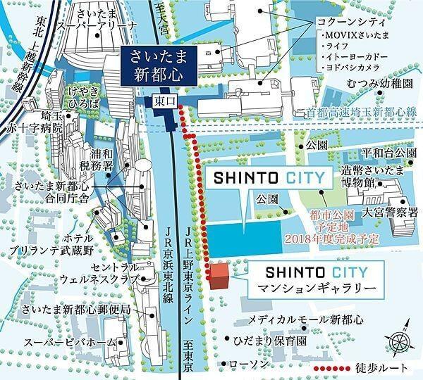 SHINTO CITYの現地・周辺案内図