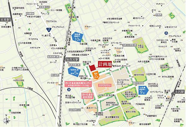 リビオ大宮宮原の現地・周辺案内図