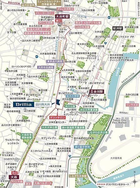 Brillia 品川南大井の現地・周辺案内図
