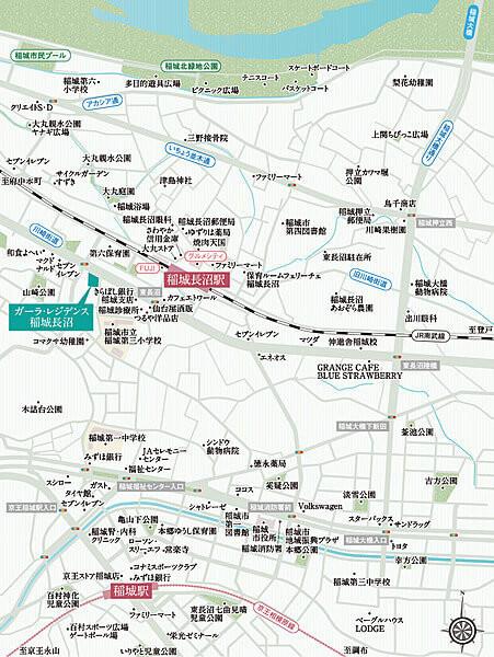ガーラ・レジデンス稲城長沼の現地・周辺案内図