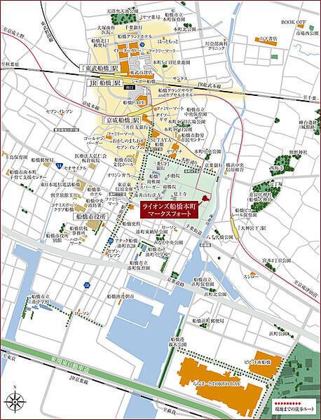ライオンズ船橋本町マークスフォートの現地・周辺案内図