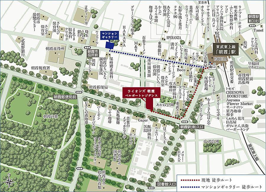ライオンズ朝霞ベルポートレジデンスの現地・周辺案内図