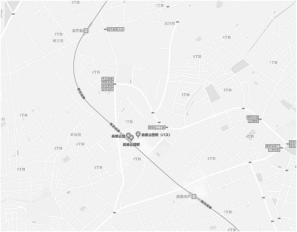 リビオシティ船橋高根台の現地・周辺案内図