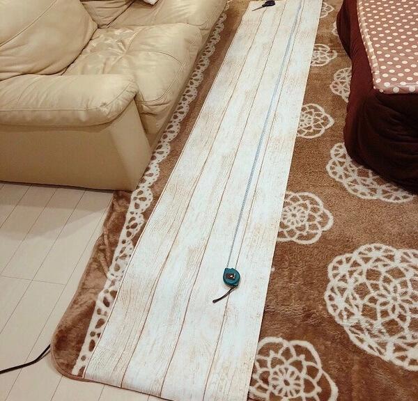 壁紙テンペーパーの長さを測る