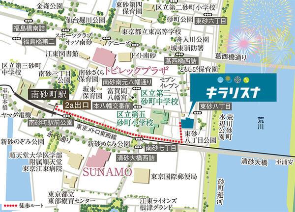 TOKYO キラリスナ PROJECTの現地・周辺案内図