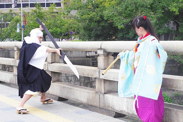 「♪京の五条の橋の上 ~♪」