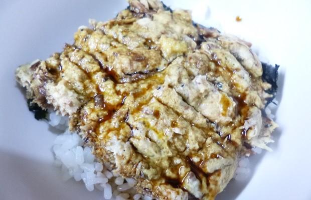 高野豆腐×サバ缶丼