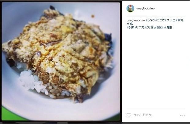 うなぎ風高野豆腐×サバ缶丼