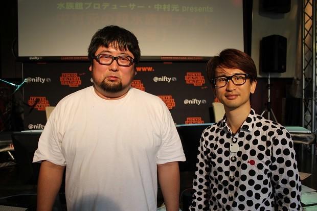 登壇者の森岡友樹(左)と、大山顕(右)