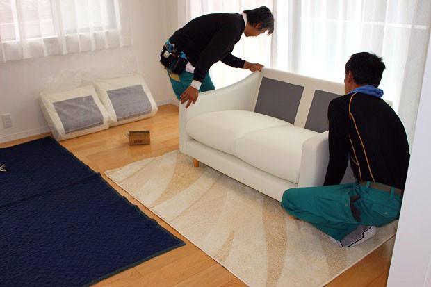 家具の搬入