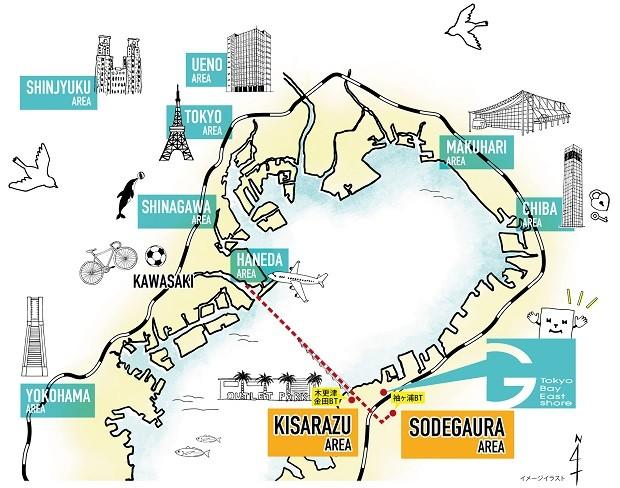 袖ヶ浦アクセス地図