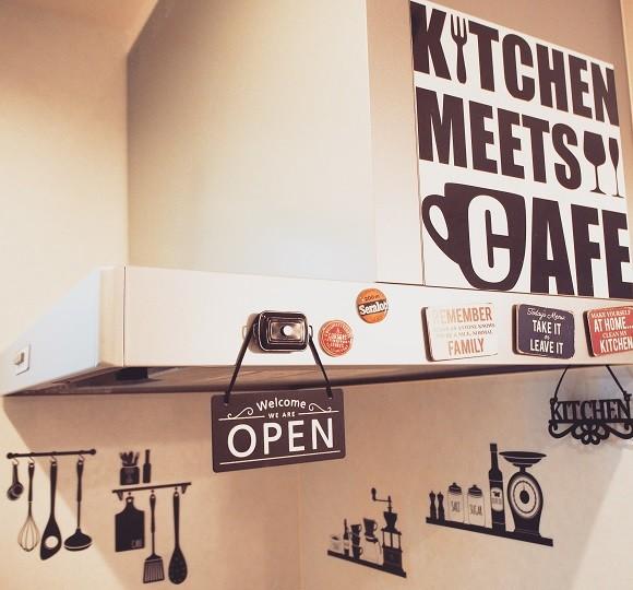 100均インテリアグッズでキッチンをカフェ風アレンジ8
