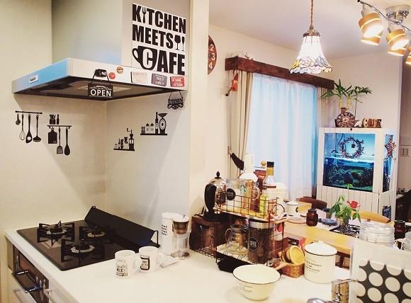 100均インテリアグッズでキッチンをカフェ風アレンジ9
