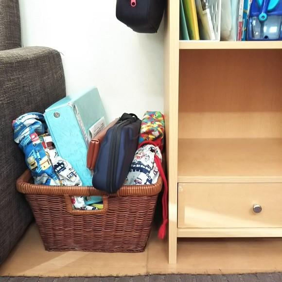 学校の道具や作品の収納術4