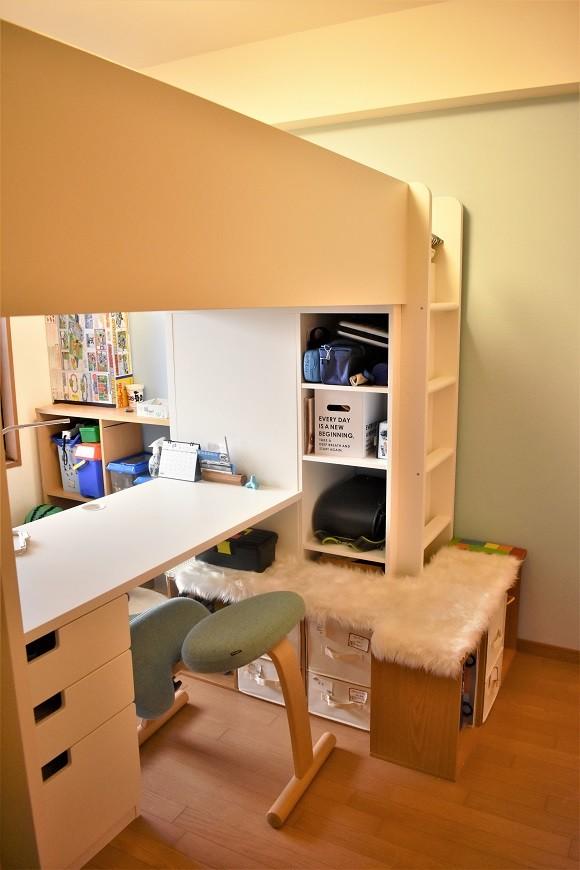 ikeaのロフトベッドで小学生の子供部屋をレイアウト