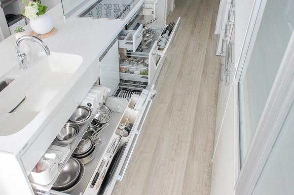 キッチン引き出し収納術1