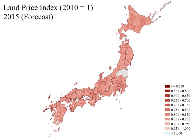 日本全国の住宅地価